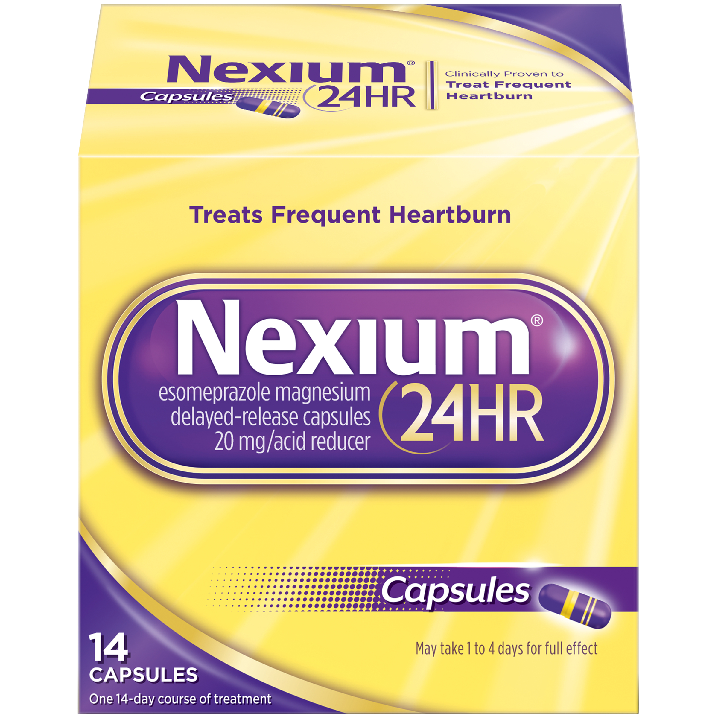small resolution of pfizer nexium 24hr 14 count capsules
