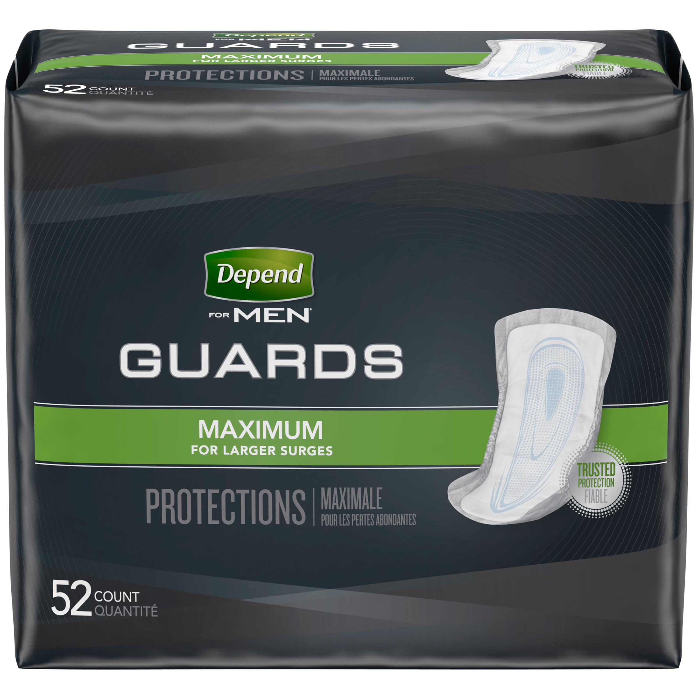 Depend for Men Maximum Absorbency Guards  Health