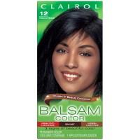Balsam Clairol Balsam Hair Color 12 Natural Black 1 Kit ...