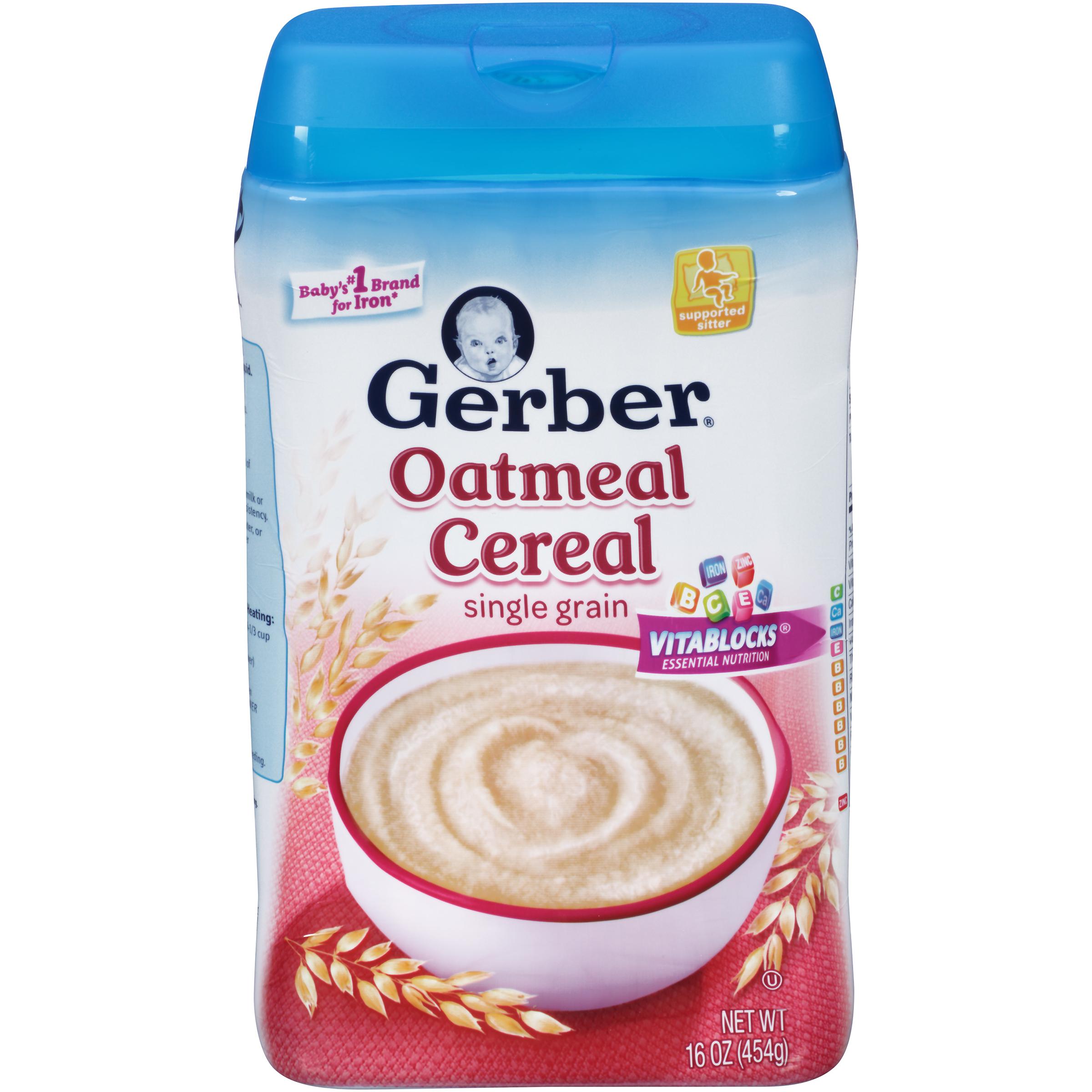 Gerber Gerber 1F Oatmeal Cereal Base Cereal WIC - Baby ...