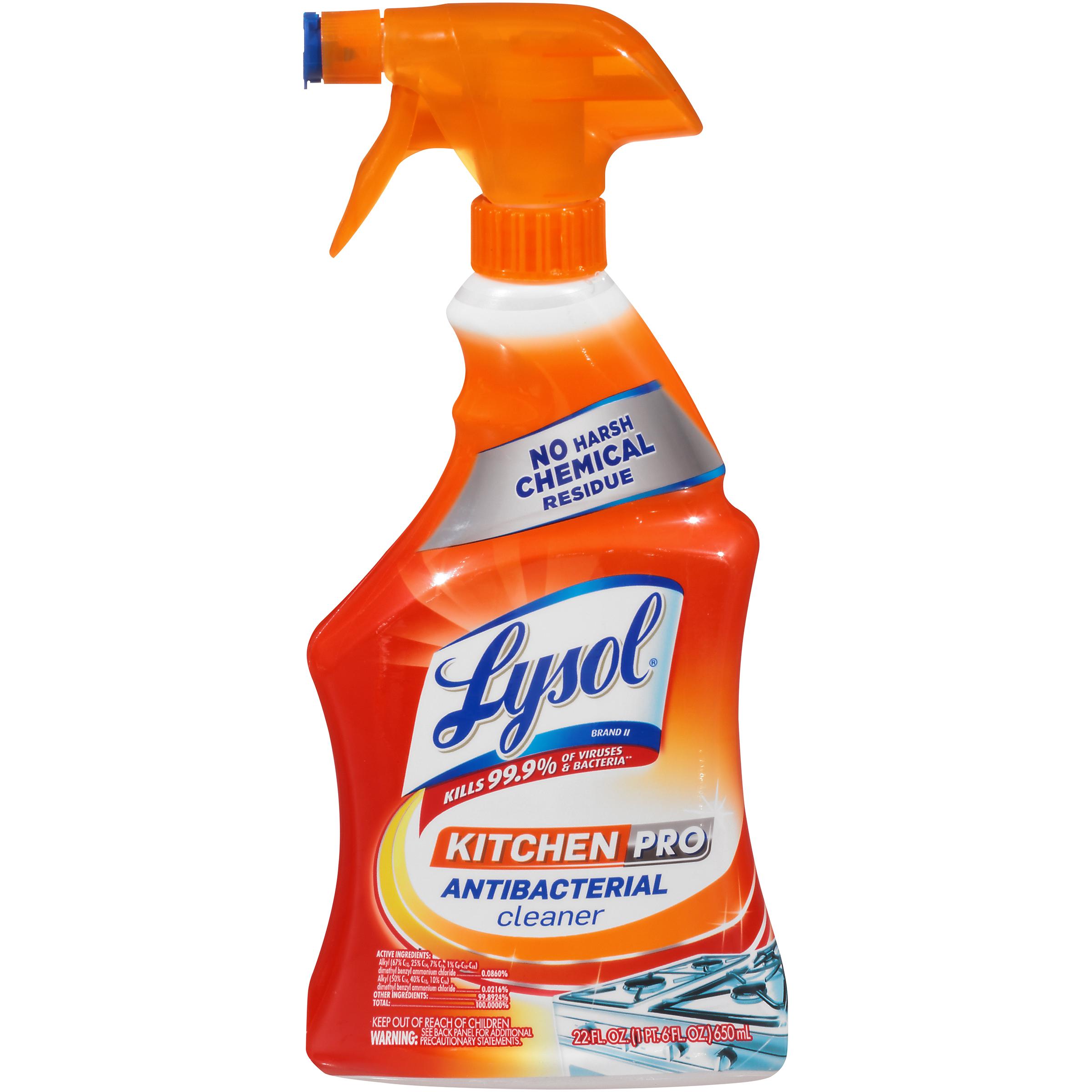 lysol antibacterial kitchen cleaner counter shelf upc 019200008884
