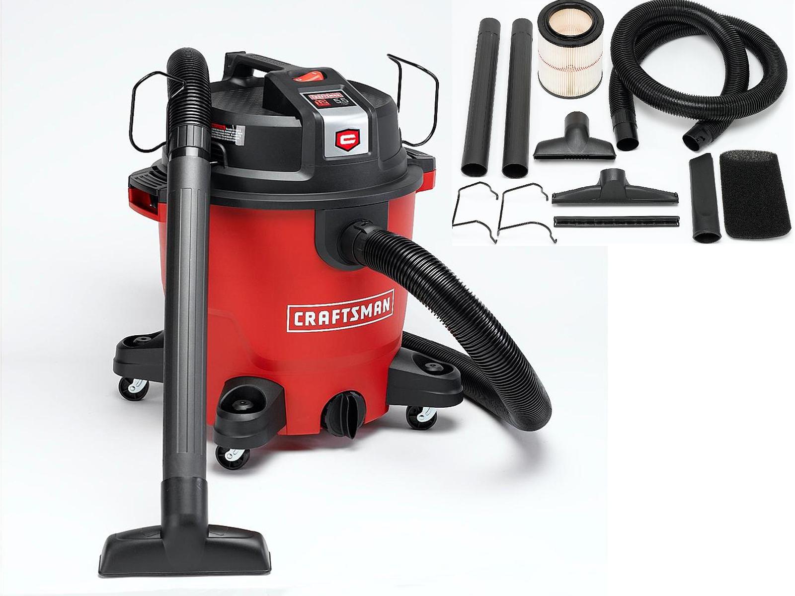 Craftsman XSP 12-Gallon 5.5 HP Wet/Dry Vac Set