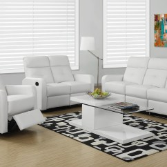 Armless White Leather Sofa Small Room Sectionals Monarch Specialties Reclining Bonded