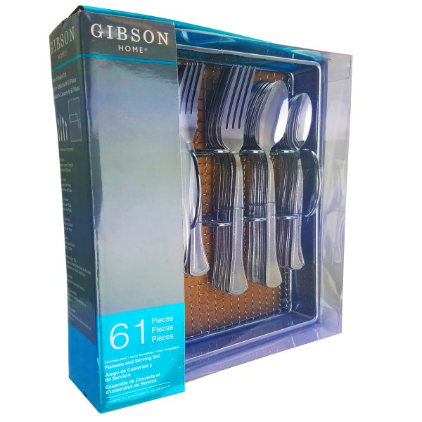 Gibson Home Grand Abby 61 Piece Flatware Set With Wire