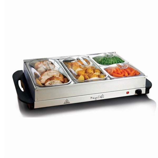Megachef 970103785m Buffet Server & Food Warmer With 4