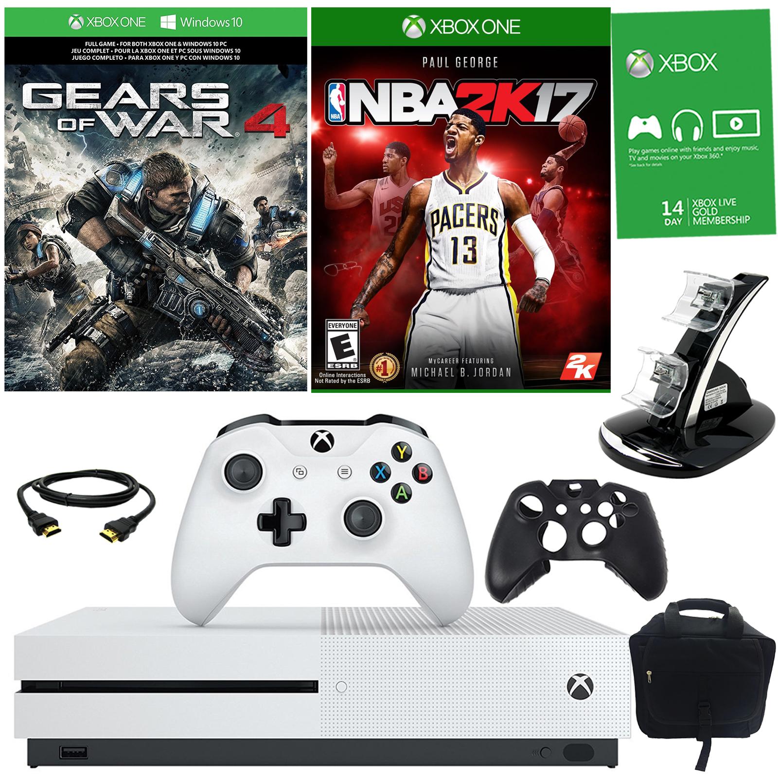 Microsoft Xbox One S 1TB Gears Of War 4 Bundle With NBA
