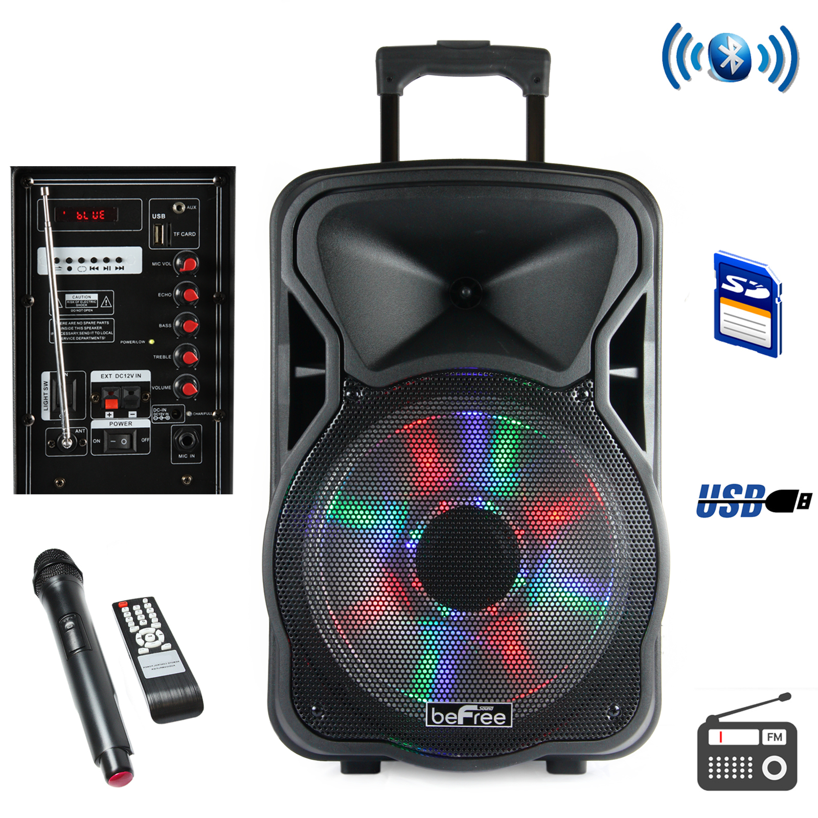 Befree Sound 97095924M 15 Inch Bluetooth Rechargeable