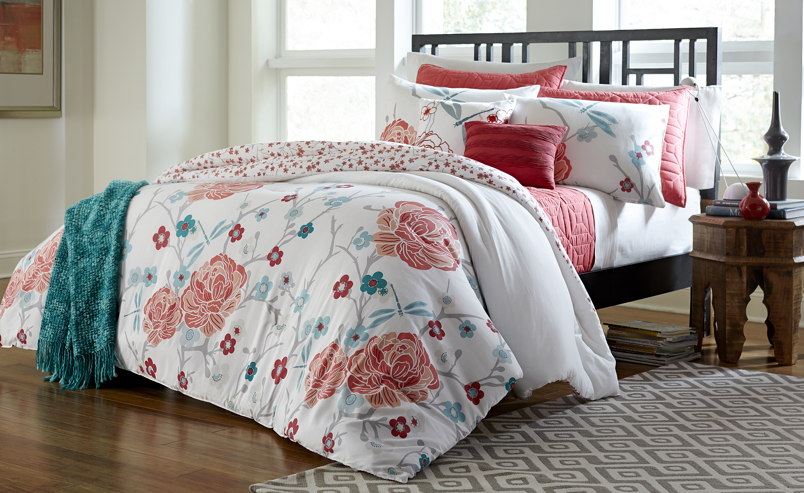 Colormate Dragonfly 5 Piece Comforter Set  Home  Bed
