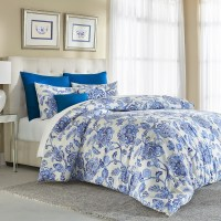 White Flower Comforter. Cannon 7 Piece Comforter Set