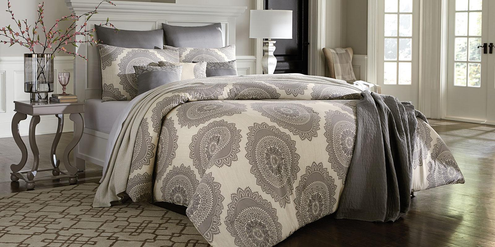 Cannon 7 Piece Comforter Set Grey Medallion Shop Your