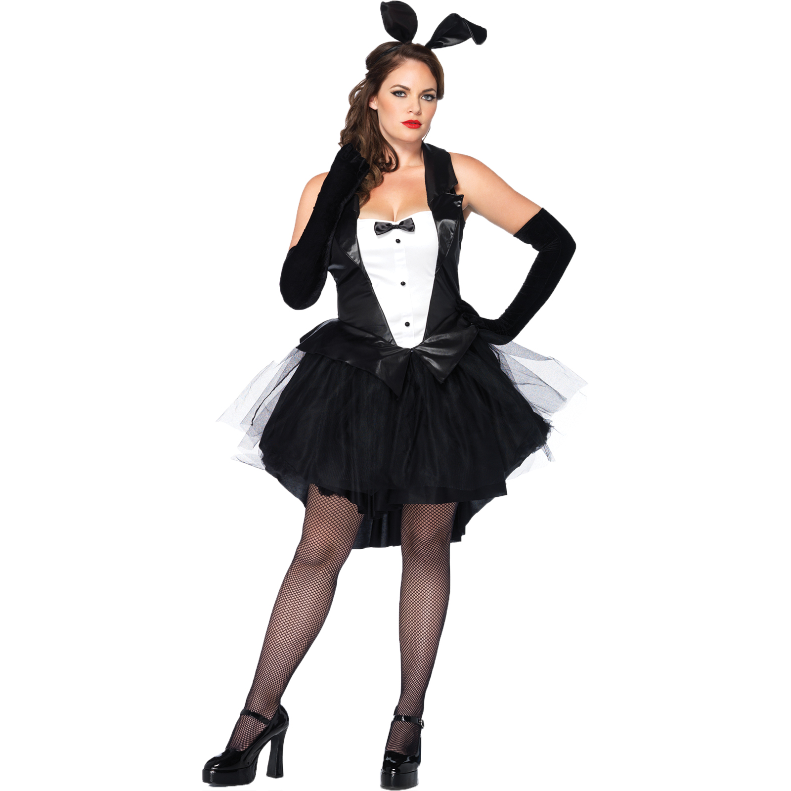 Women Bunny Tux Dress With Tails Costume Size Xxl