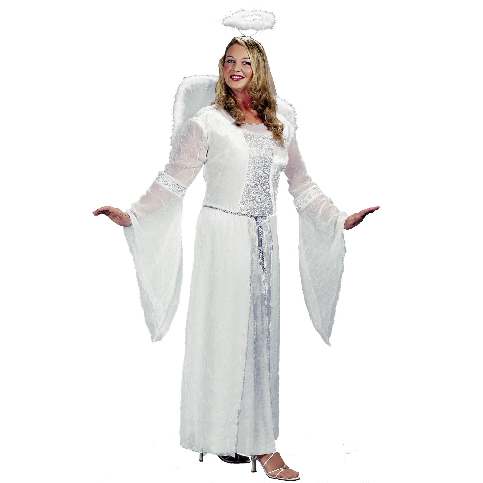 Women White Angel Costume Size Xl
