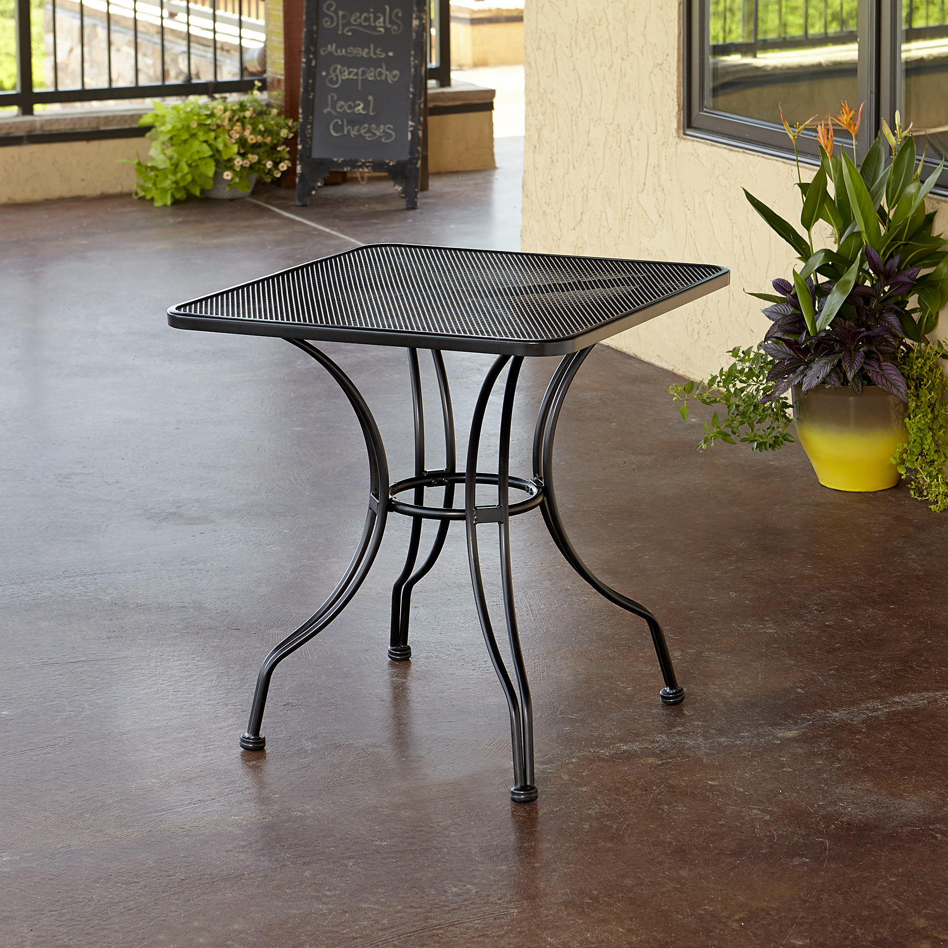 "Grand Resort 28"" Square Commercial Grade Mesh Bistro Table"