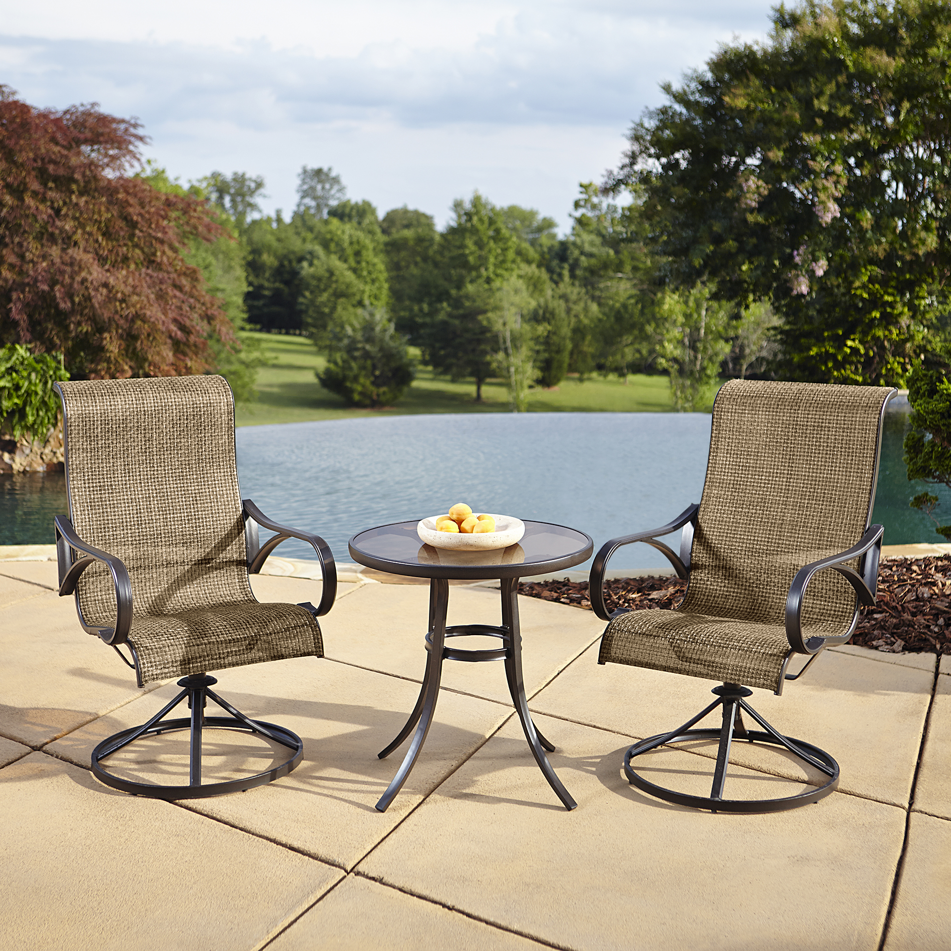 sling motion patio chairs folding chair by regina spektor grand resort oak hill 3pc bistro with limited availability