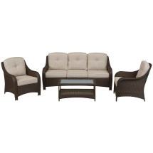 Grand Resort Summerfield 4 Pc. Seating Set- Sand