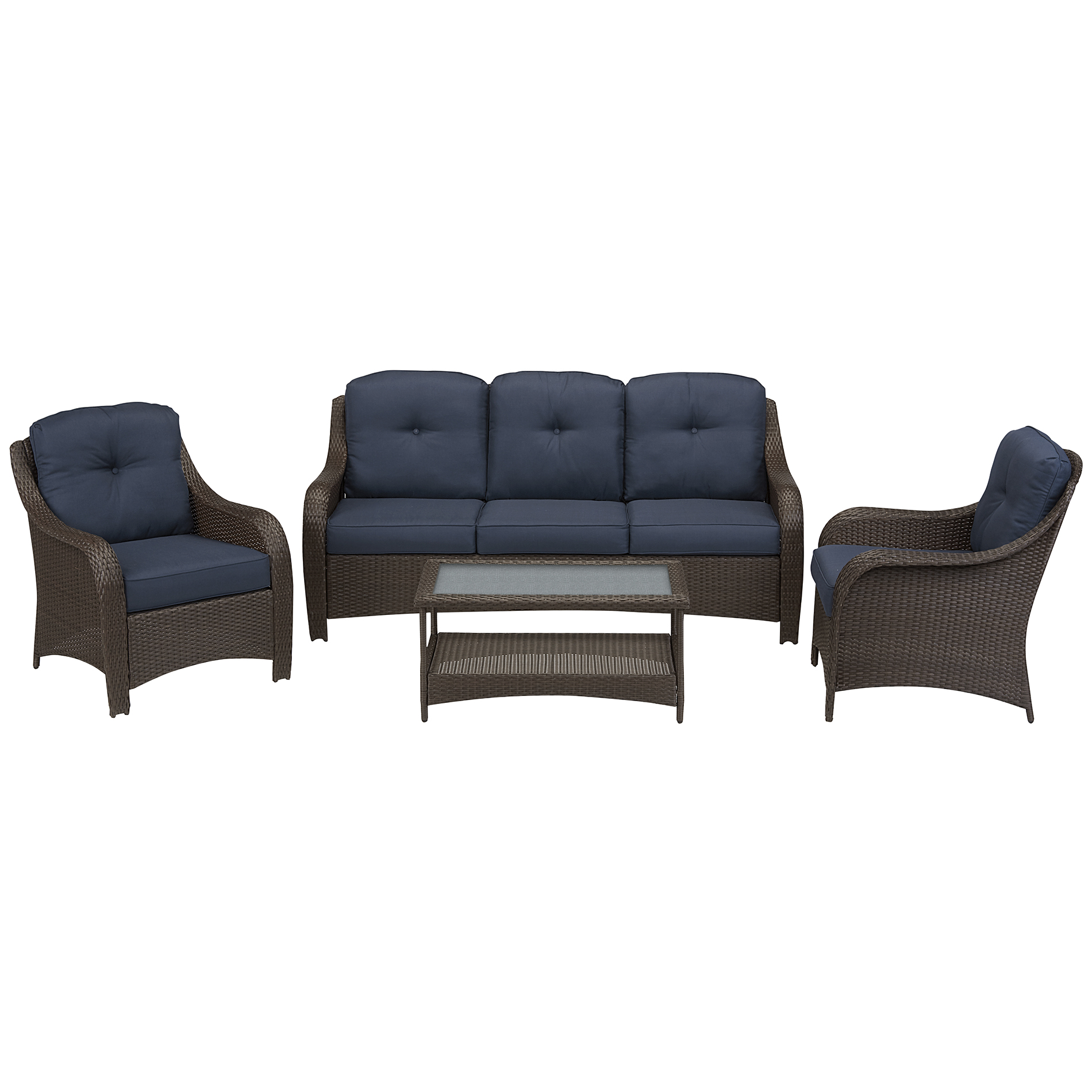 Grand Resort Summerfield 4 Pc. Seating Set- Denim