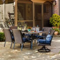 Barrel Chairs Swivel Rocker Yoga Ball Chair La-z-boy Outdoor Kinsley 7 Pc. Dining Set- Denim *limited Availability*