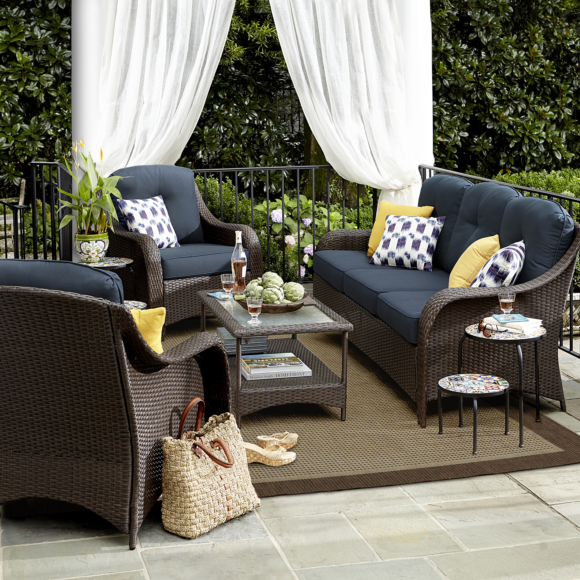 Grand Resort Summerfield 4 Pc. Seating Set- Denim Limited