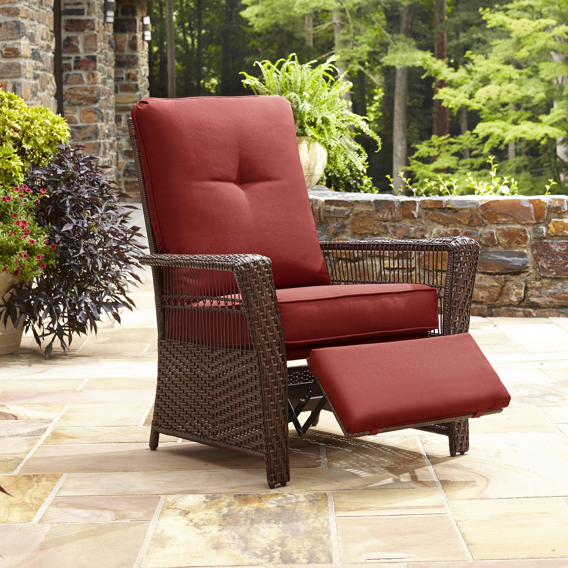 reclining deck chair asda zero gravity lawn canada la z boy outdoor scarlett recliner shop your way online