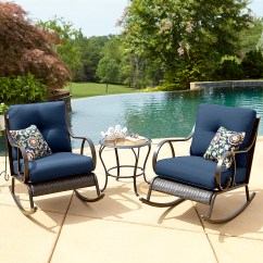 Outdoor Porch Chairs Directors La Z Boy Avery 3 Piece Bistro Rocking Chair Set In