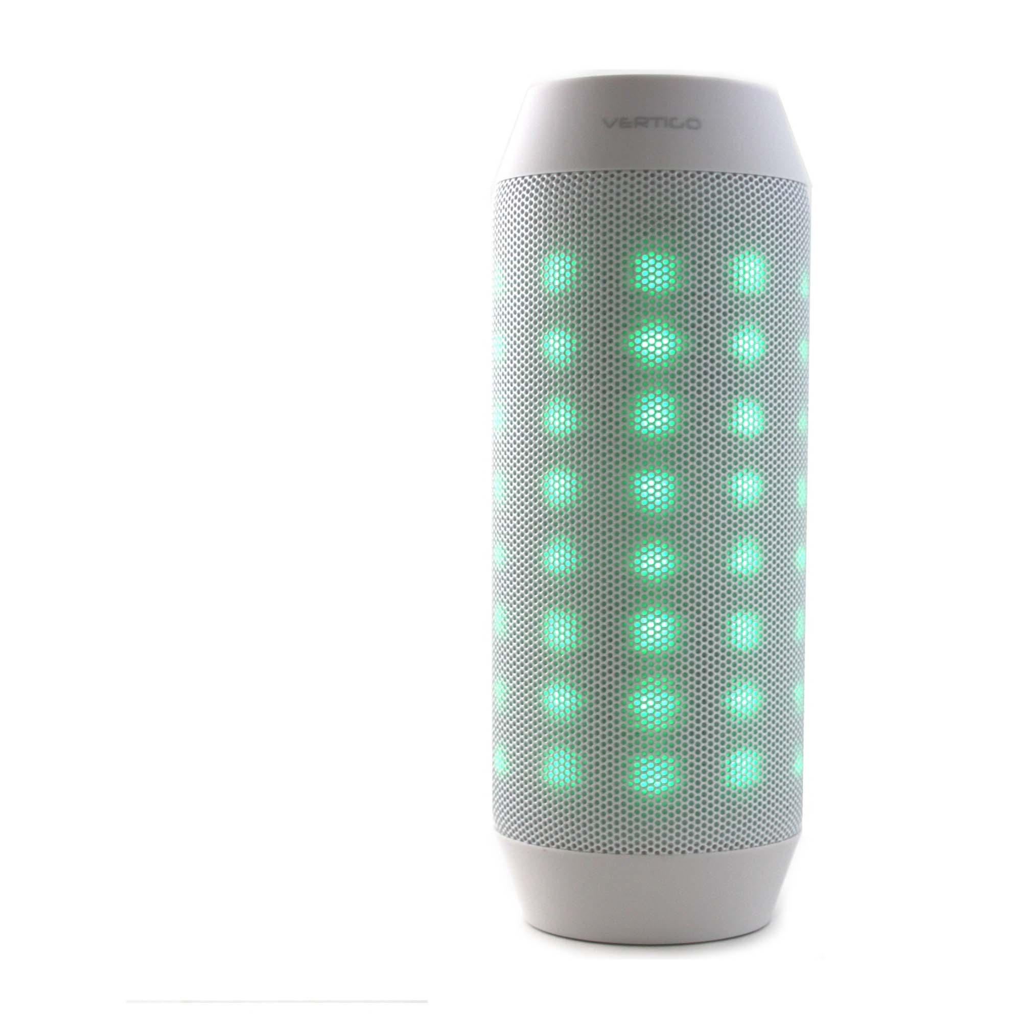 Vertigo Bluetooth LED Light Speaker  White  Connected