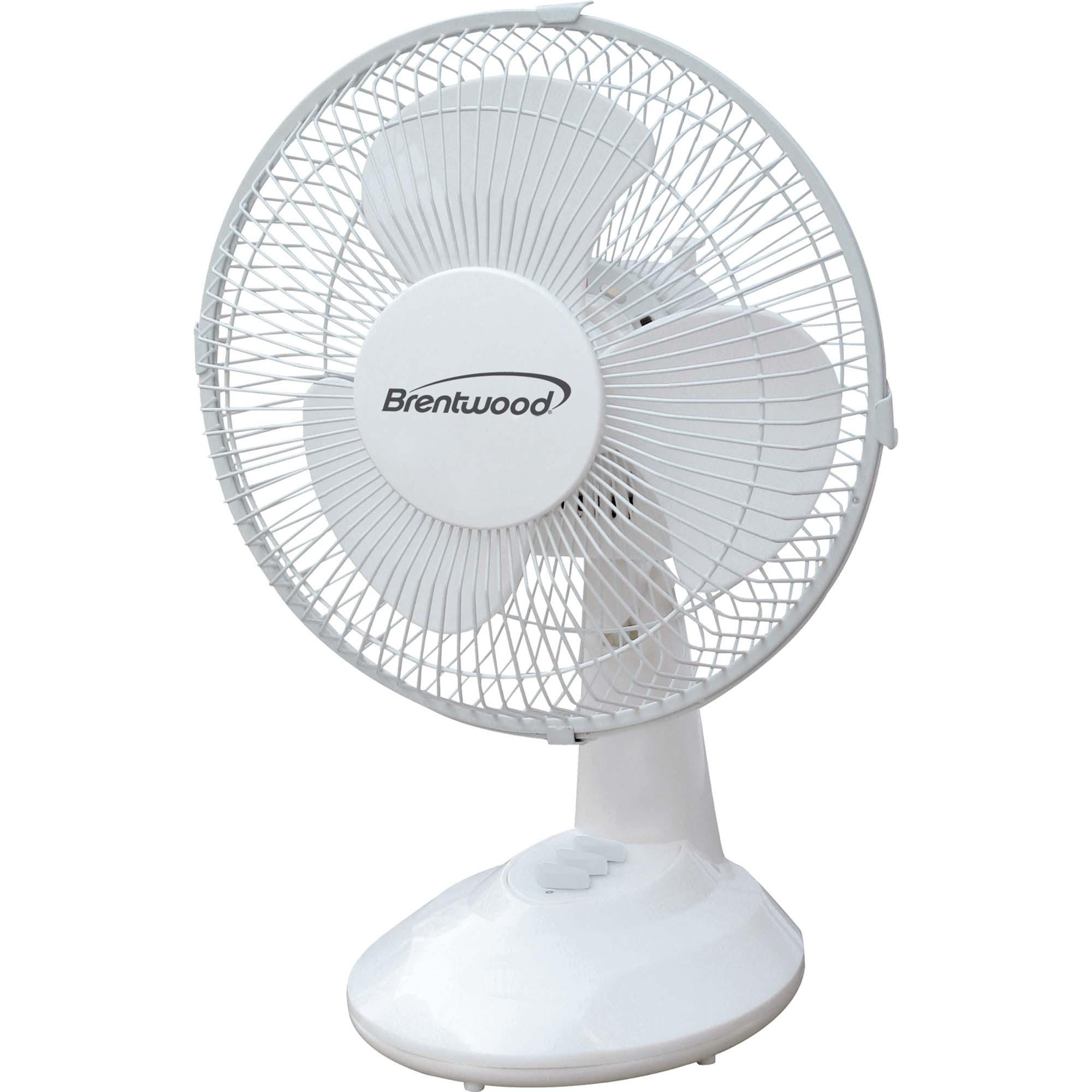 Brentwood 9 Oscillating Desk Fan  Appliances  Fans  Table Fans
