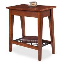 Leick Westwood Oak Narrow Chair Side Table
