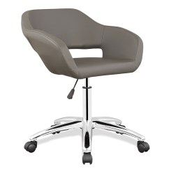 Upholstered Computer Chair Two Seat Swing Leick Gray Arm Office Home Furniture