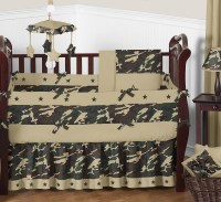 Sweet Jojo Designs Camo Green Collection 9pc Crib Bedding