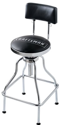 Craftsman Black Adjustable Hydraulic Seat
