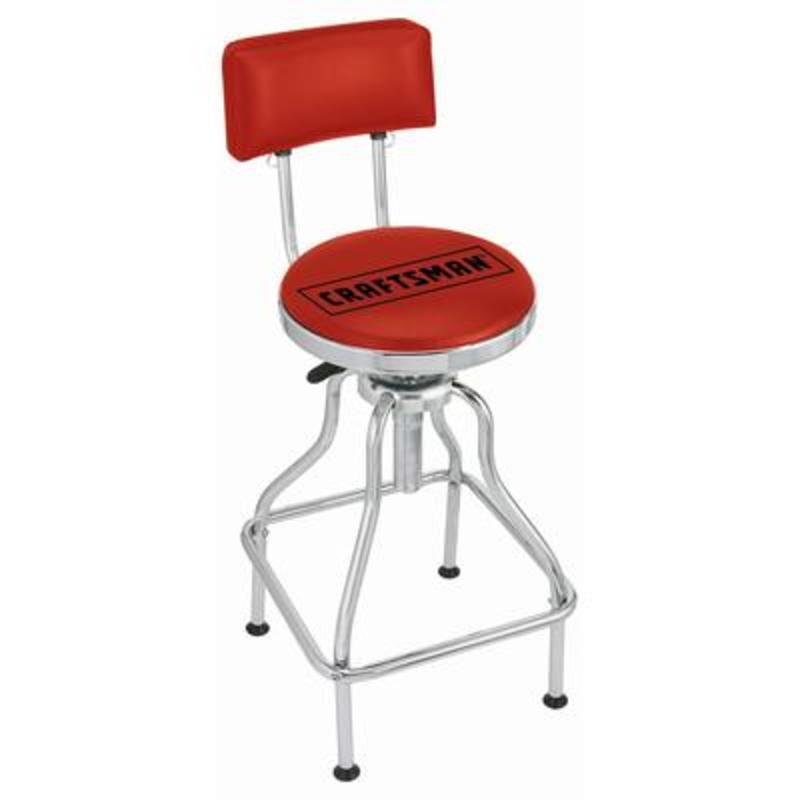 Craftsman Red Adjustable Hydraulic Seat Shop Your Way
