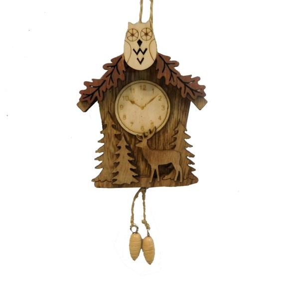 Cuckoo Clock with Owls