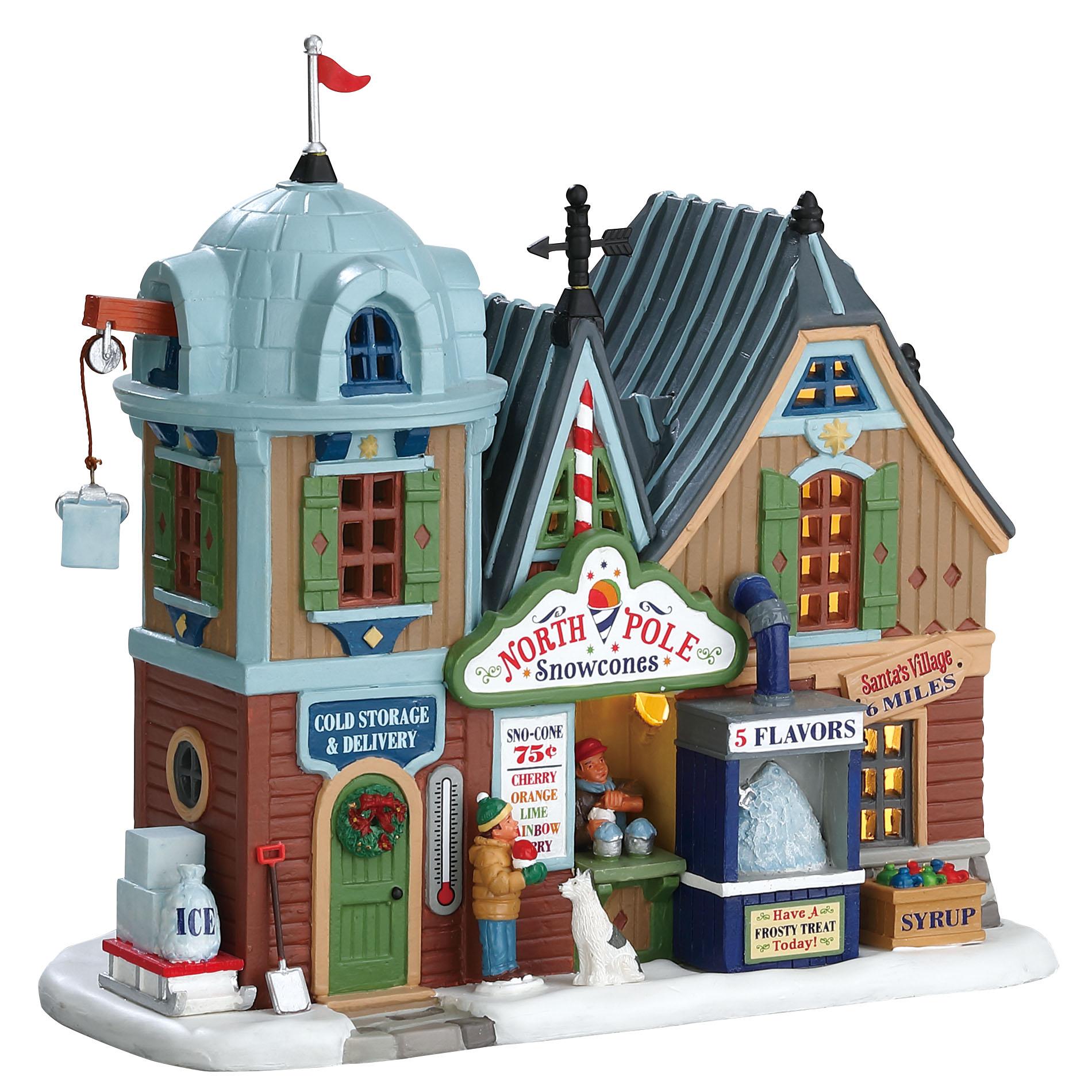 LIC LIMITED Christmas Village Building North Pole Snowcones