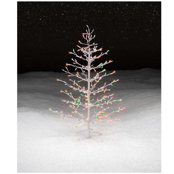 Lighted Christmas Stick Tree