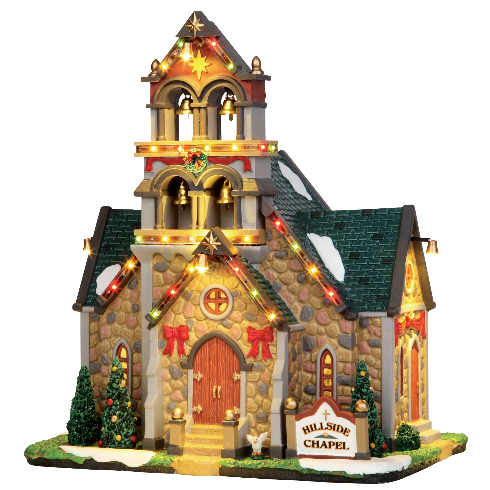 Lemax Village Collection Caddington Hillside Bell Chapel