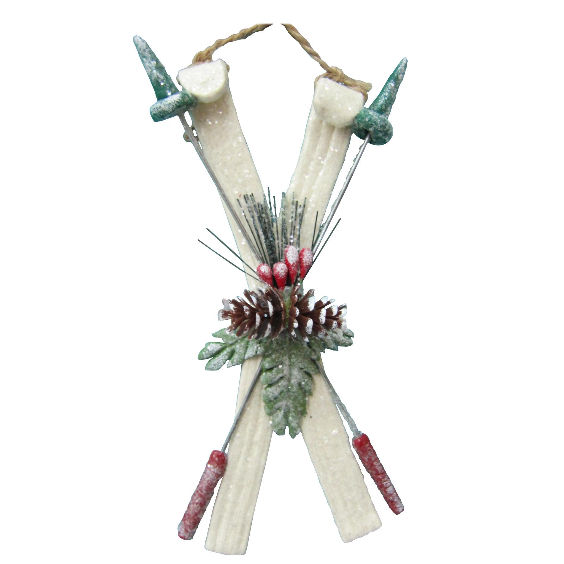 Donner & Blitzen Incorporated Ski Ornament - White