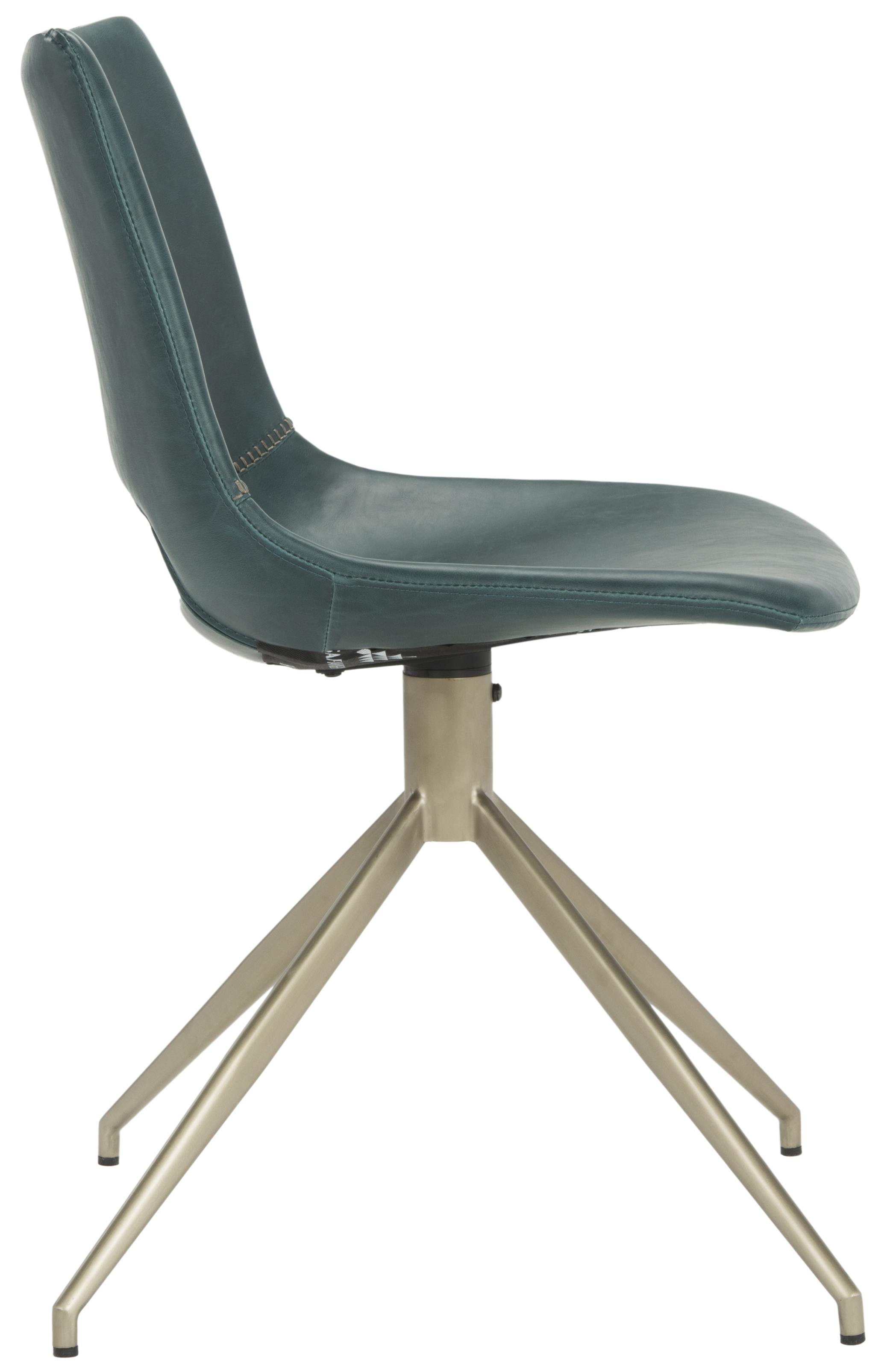 safavieh dining chairs porch rocking made in usa danube midcentury modern faux leather swivel chair 2