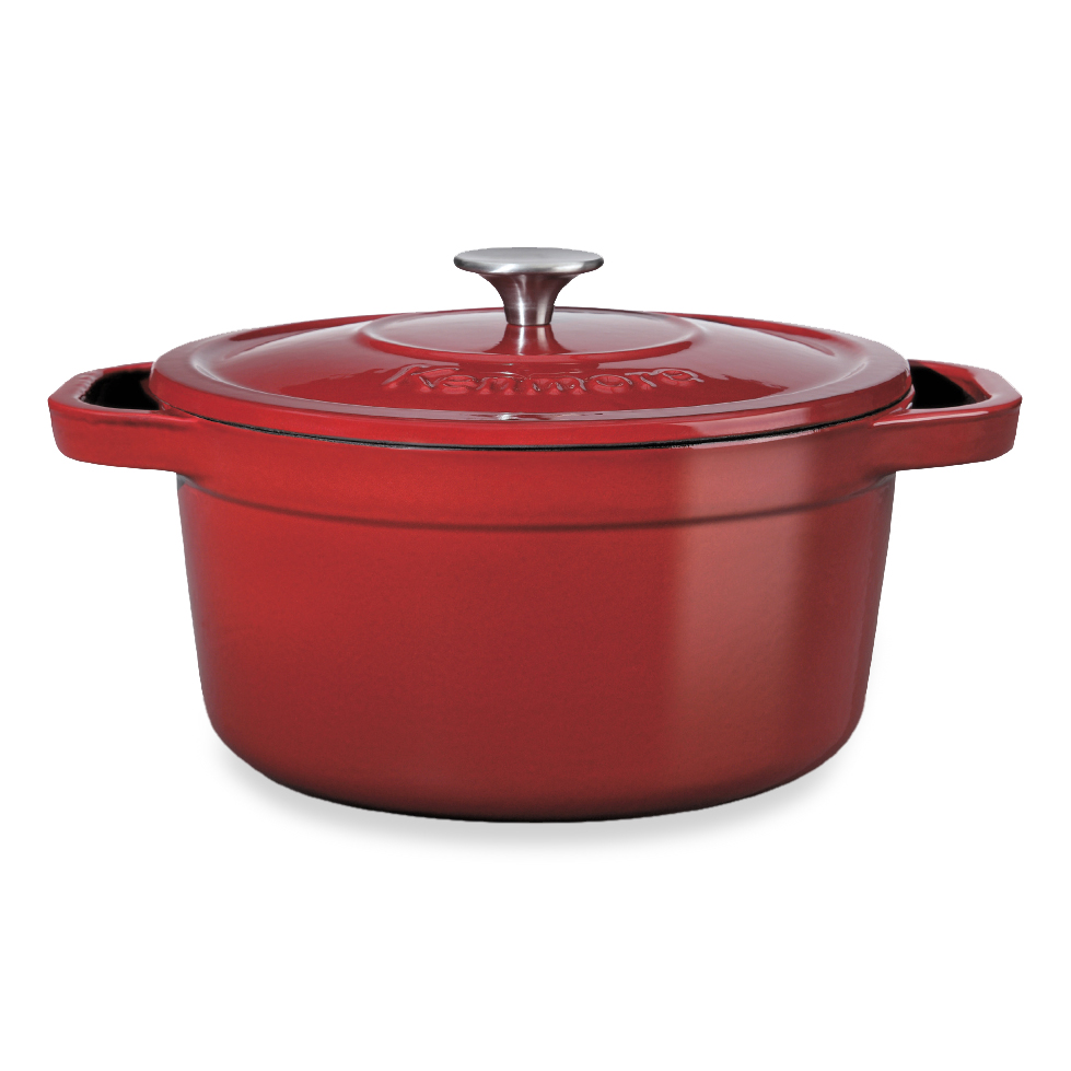 Kenmore Cast Iron Enamel 7-qt. Dutch Oven - Red