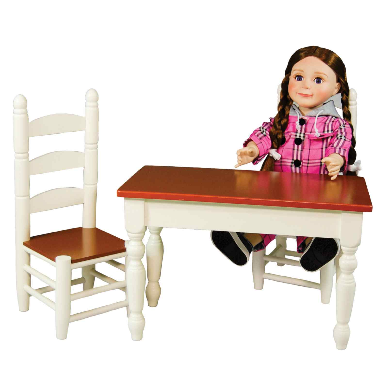 american girl doll chairs rifton activity chair the queen s treasures farmhouse collection table fits 18