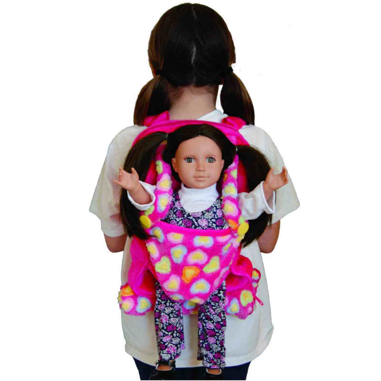 Queen' Treasures Pink Childs Backpack Doll Carrier