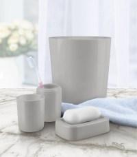 4-Piece Bathroom Accessory Set - Gray - Home - Bed & Bath ...