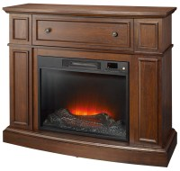 Essential Home Shaw Electric Fireplace - Cherry