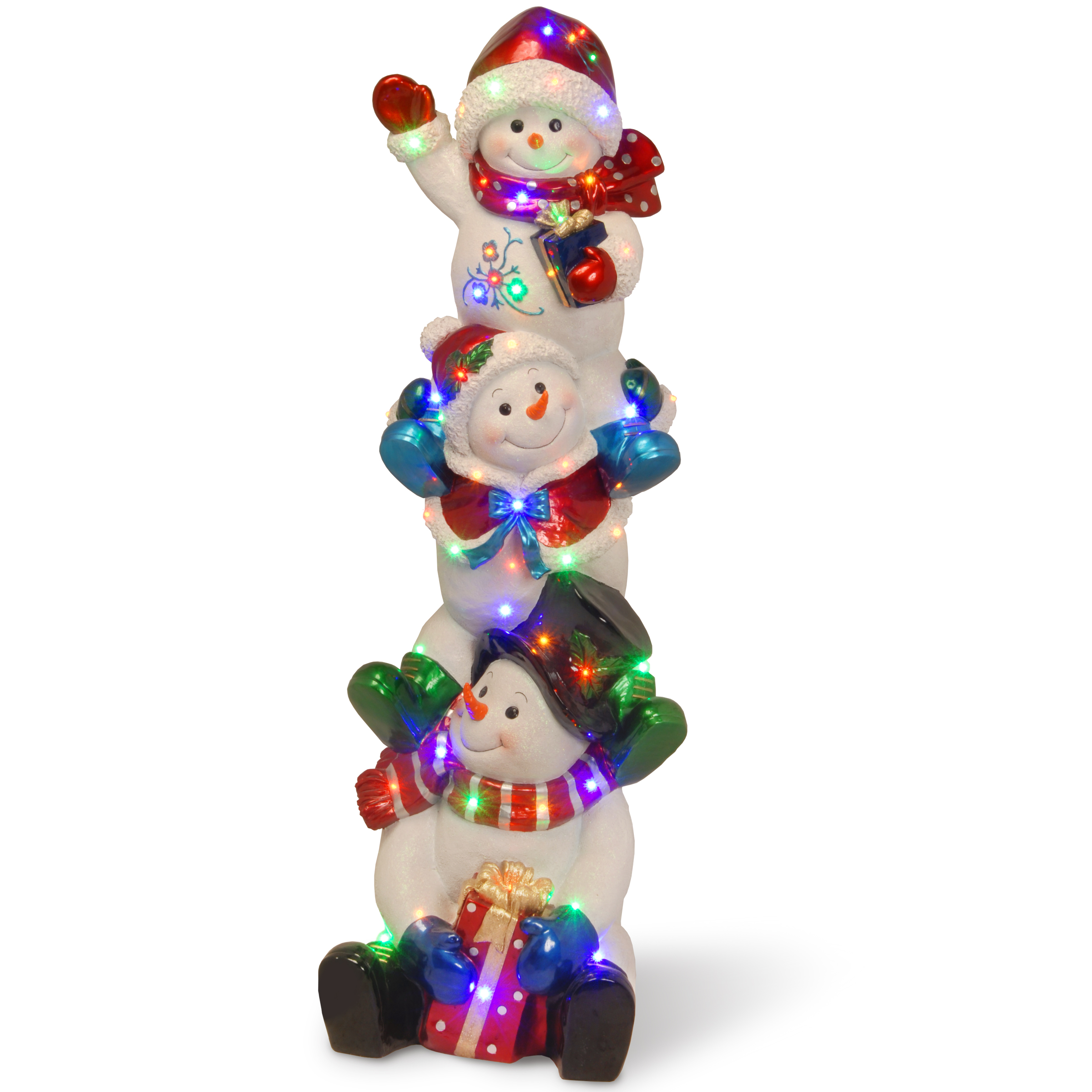 National Tree Company 61In Stacking Snowman Family With