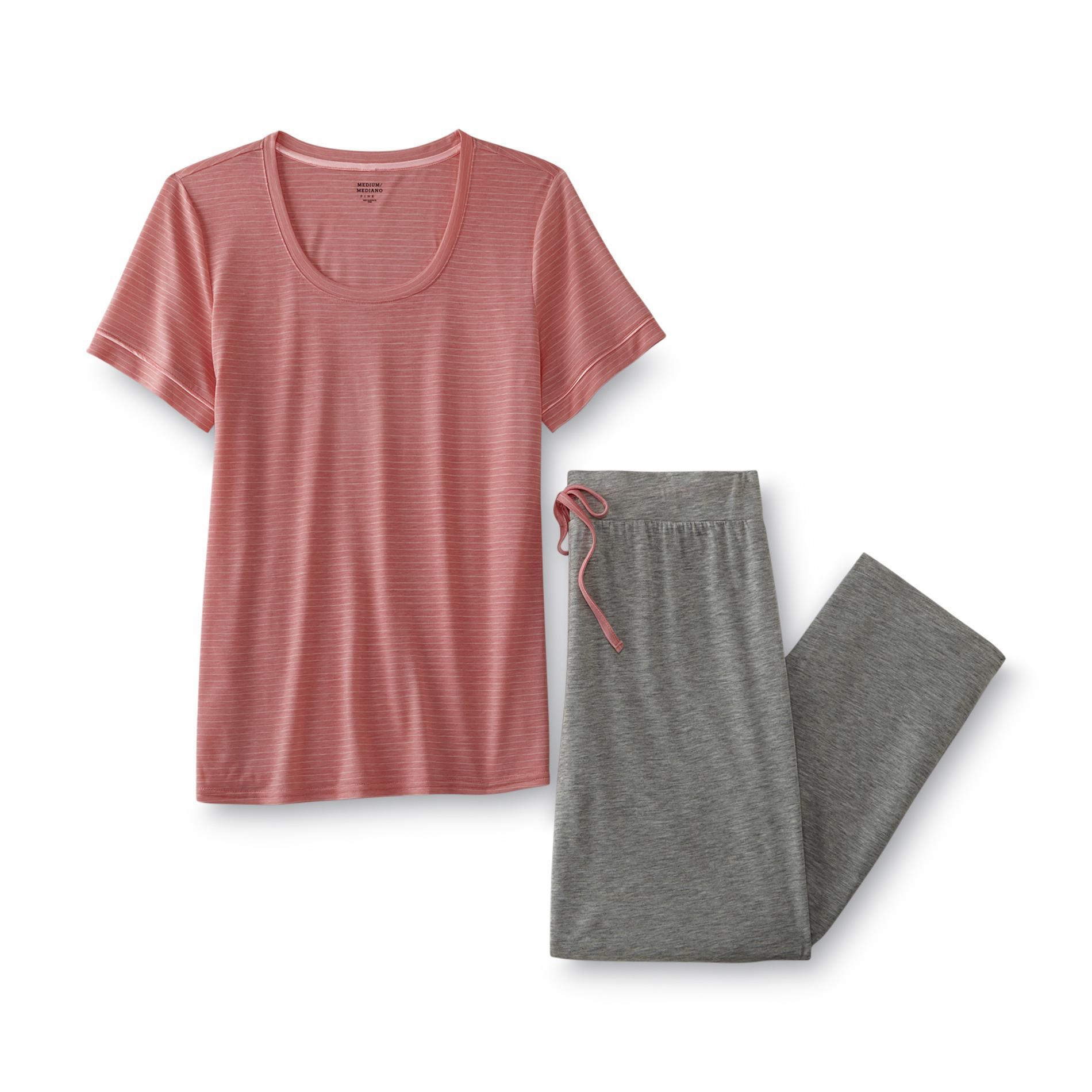 Jaclyn Smith Women' Pajama Top & Pants - Striped