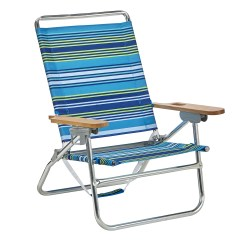 Beach Chair Pillow With Strap Buy Easy Online Essential Garden 4 Position Blue Striped Sears