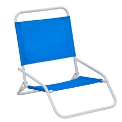 Low Back Chairs Camping Chair Covers Wedding Sheffield Essential Garden Beach Blue Outdoor