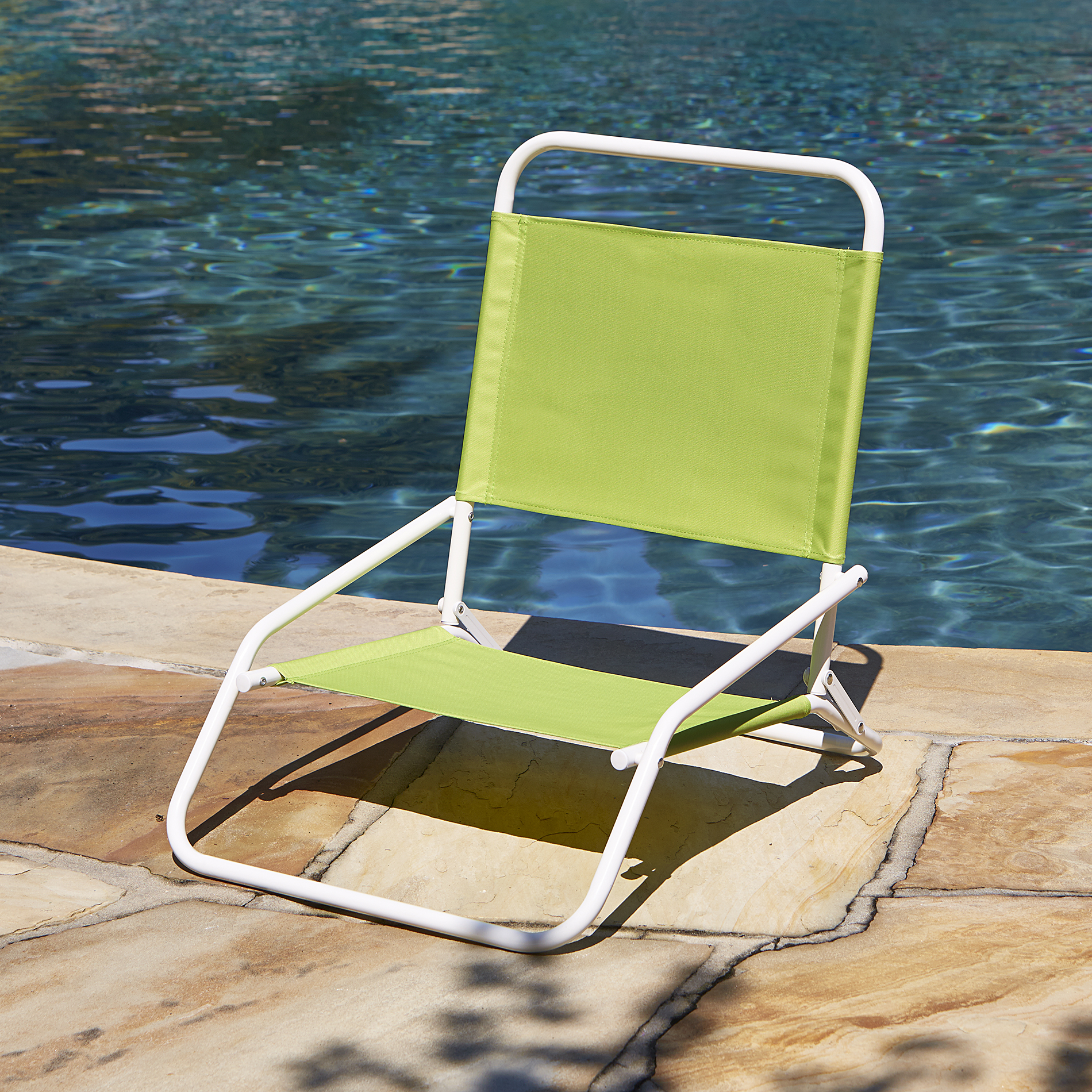 Low Back Chairs Low Back Beach Chair Green Outdoor Living Patio