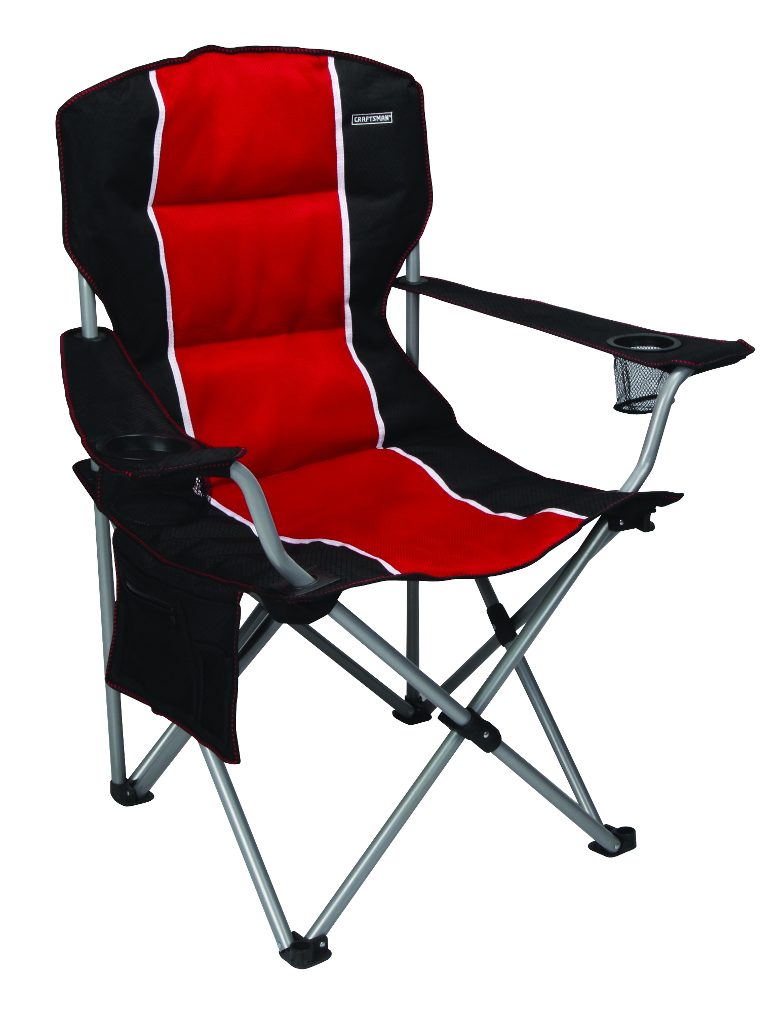 Camper Chairs Craftsman Padded Chair Red Awsome Folding Outdoor Camping