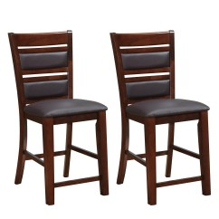 Counter Height Chairs Set Of 2 Hanging Chair Home Bargains Corliving Chocolate Brown Bonded Leather