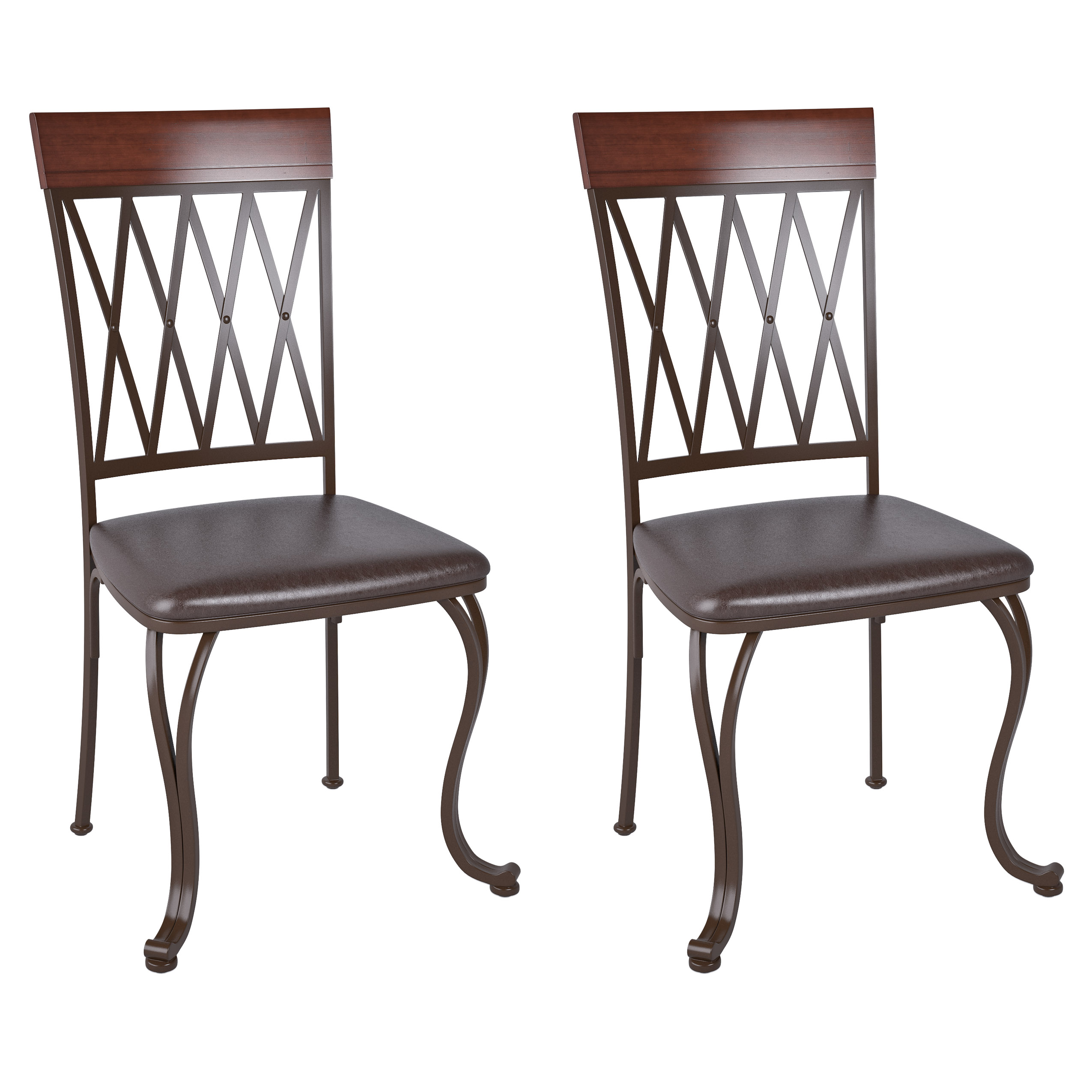 Leather Chairs Target Corliving Jericho Metal Dining Chair With Dark Brown